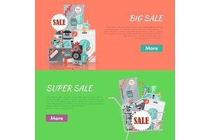 Big Super Sale Banners Set