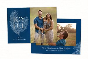 Christmas Card Template CC204