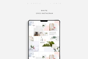 White Grid Instagram