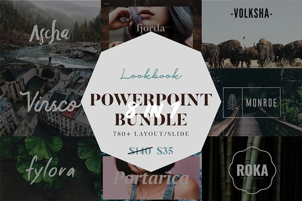 Lookbook Powerpoint Big Bundle