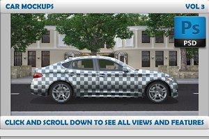 Car Mockups Vol 3 - 4 Car Mockups