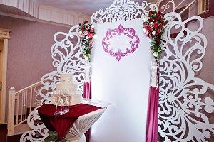 Wedding photo zone with different de