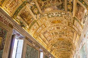 ceilings in the Vatican Museum