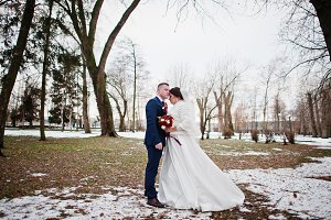 Lovely young wedding couple in love