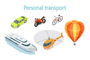 Personal Transport Infographic