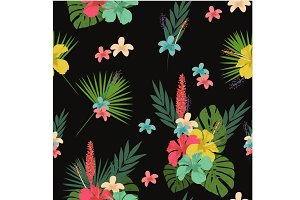 Flower pattern, tablecloth backgroun