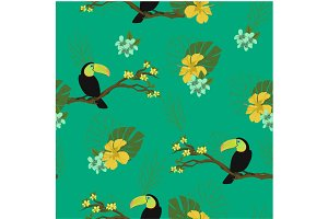 Birds, Seamless background