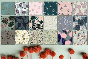 18JPG/EPS Tropical floral pattern