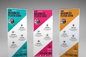 Corporate Business X Banner Template