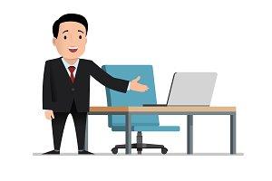 Job invitation. male businessman in