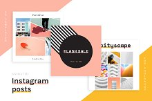20 Animated Instagram Post templates by  in Social Media