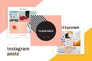 20 Animated Instagram Post templates
