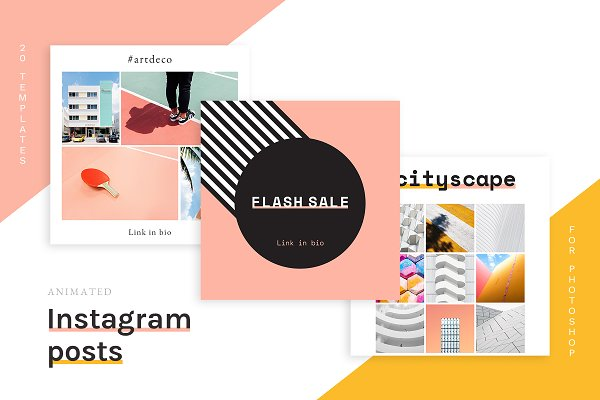 Social Media Templates: Tuck Shop Studio - 20 Animated Instagram Post templates