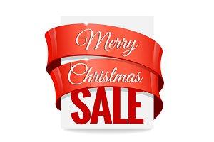 Big Christmas sale. Label, price tag