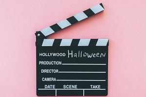 Halloween movie clapperboard