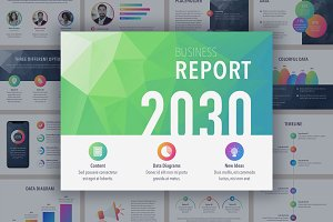 Business Report Colorite PowerPoint