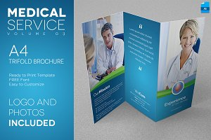 Medical Service A4 Trifold Flyer 03