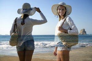 fashion women at beach