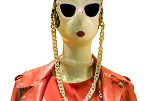 Women Mannequin wiht Glasses Isolate