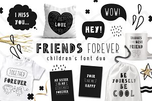Friends Forever - Childrens font duo
