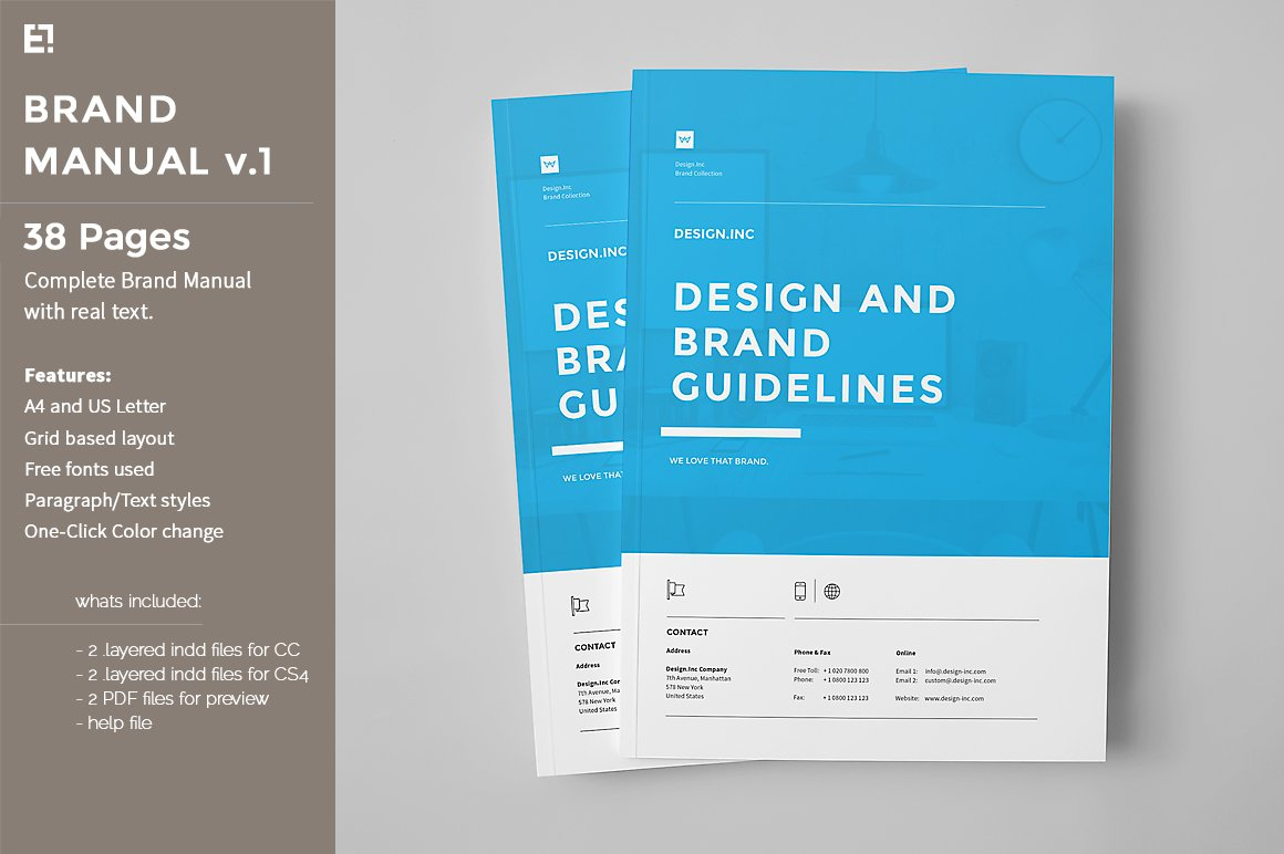 Brand Manual Brochure Templates Creative Market - Brochure design templates indesign