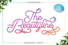 The Beautyline + Extra by  in Script Fonts