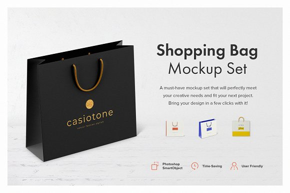 shopping bag mockup set product mockups creative market