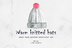 Watercolor knitted hat