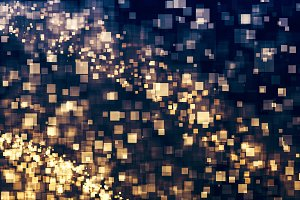 Gold glitter lights abstract
