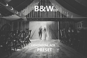 B&Wed Lightroom&Photoshop preset