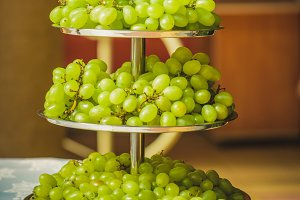 Grapes on the table