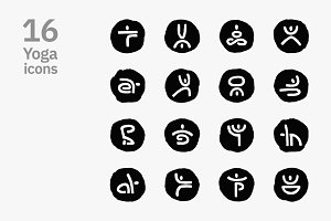 Yoga icons. Vector and PNG