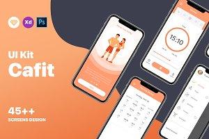 Cafit - Fitness & Workout UI KIT