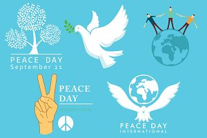 International Day of Peace symbols