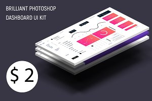 Brilliant Photoshop Dashboard UI Kit