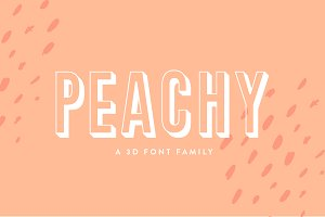 Peachy | A 3D Font Family
