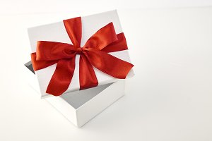 Christmas, New Year's open gift box