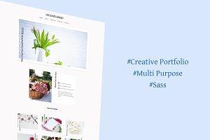 Kite Flowers Portfolio HTML Template