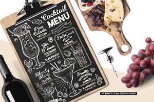FREE! Trifold + Cocktail Menu