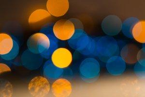 Multicolored lights defocus. Backgro