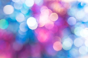 Multicolored bokeh. Blue and pink li