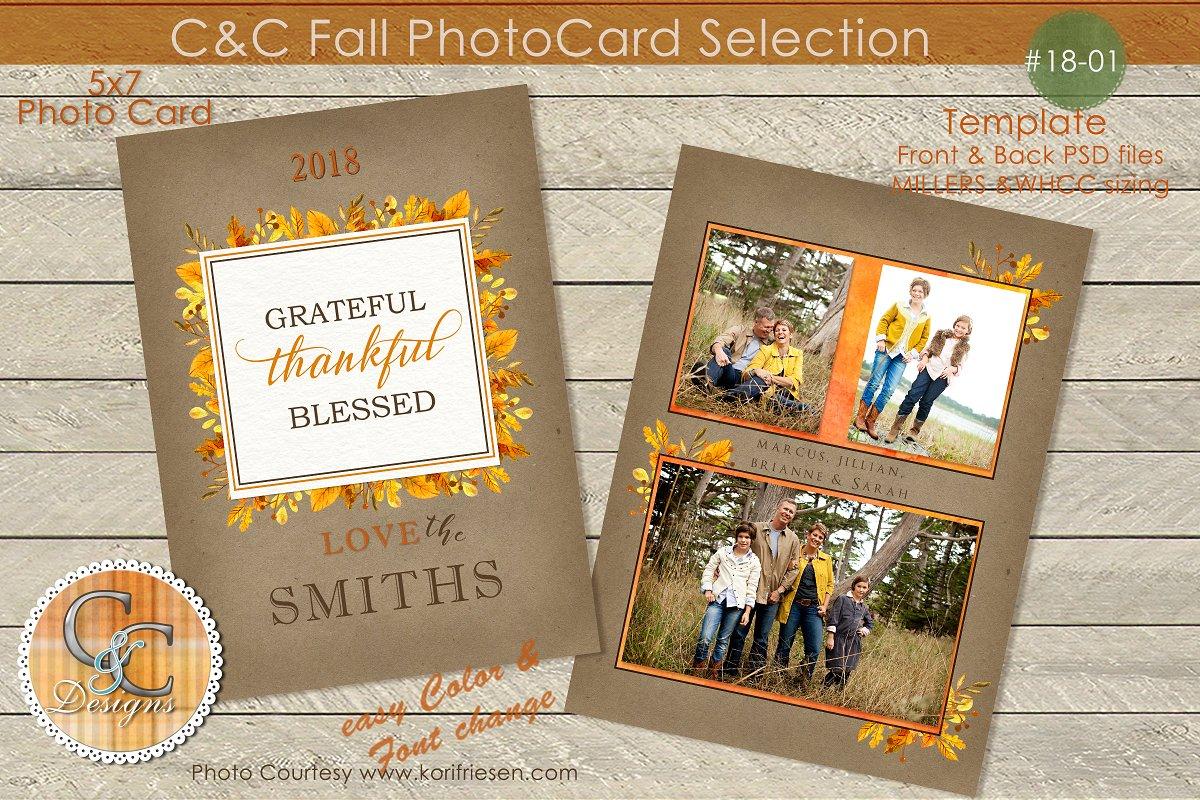 Fall Greatful,Thankful, Photo Card