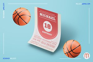 Sporty Birthday Invitation Flyer