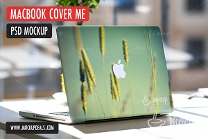 PSD Mockup MacBook Cover