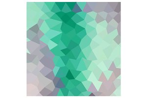 Celadon Green Abstract Low Polygon B