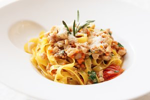 Tagliatelle pasta with parmesan