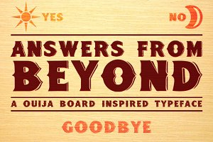Answers From Beyond - Typeface