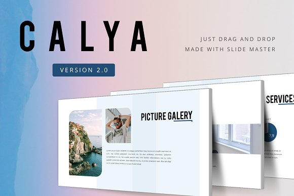 Calya 20 Powerpoint Template Presentation Templates Creative Market