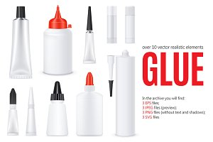 Glue Tubes Realistic