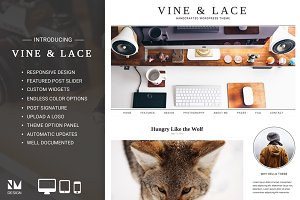 Vine & Lace - Handcrafted WordPress